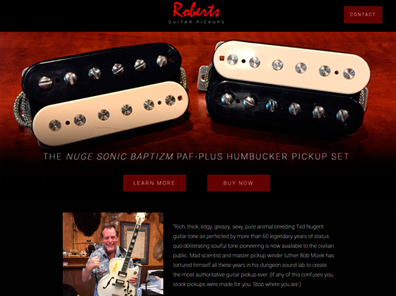 Roberts Guitar Pickups Homepage